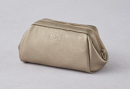 Gold Boxy Pouch - Large