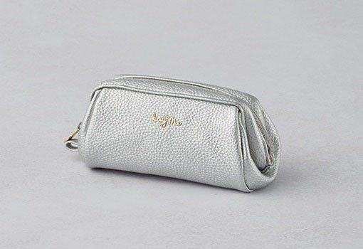 Silver Boxy Pouch - Small