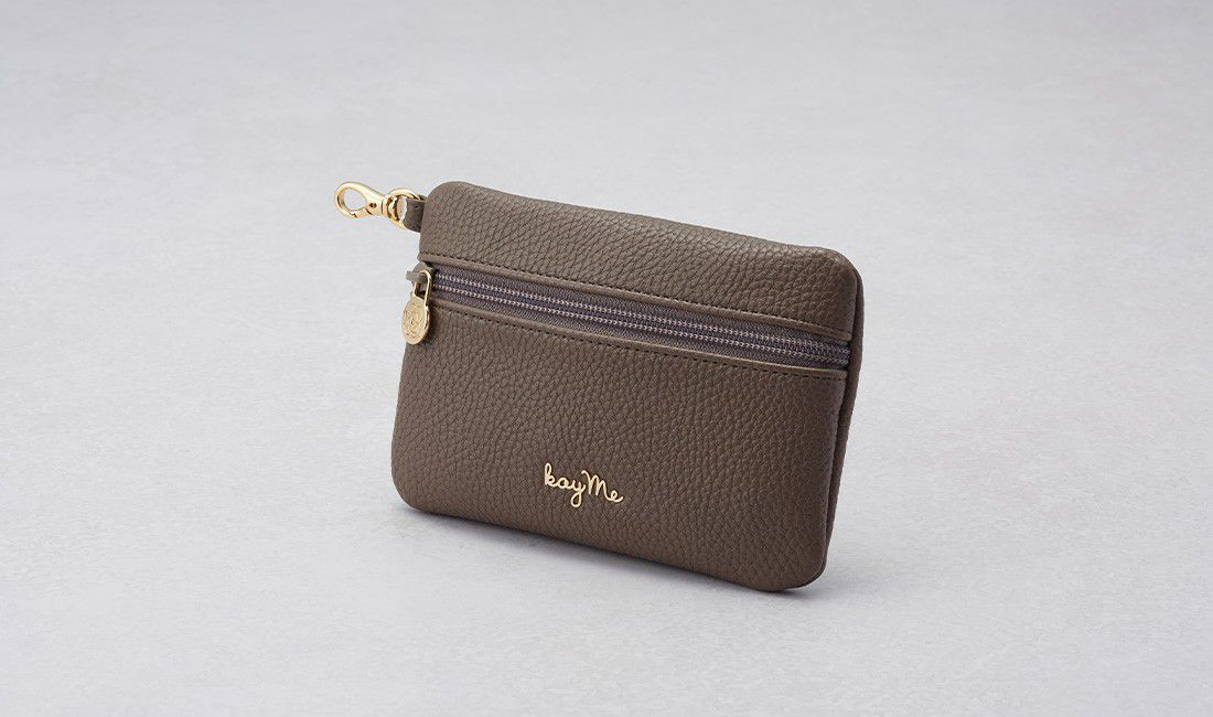 taupe ​Valuables pouch