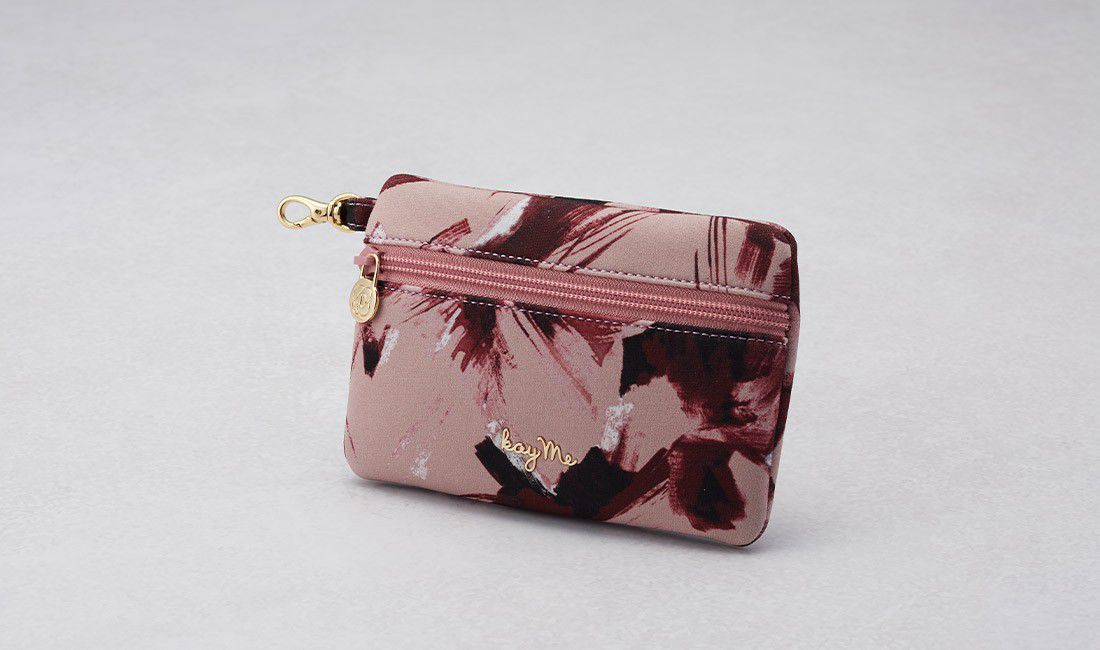 Pink tassel ​Valuables pouch