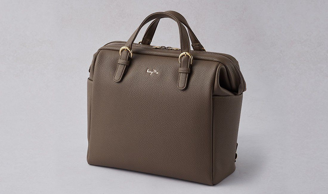 Taupe Two-way Business Bag
