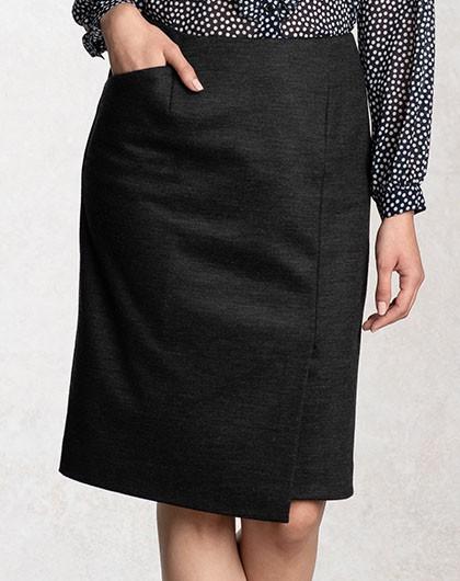 チャコールグレー ラップスカート