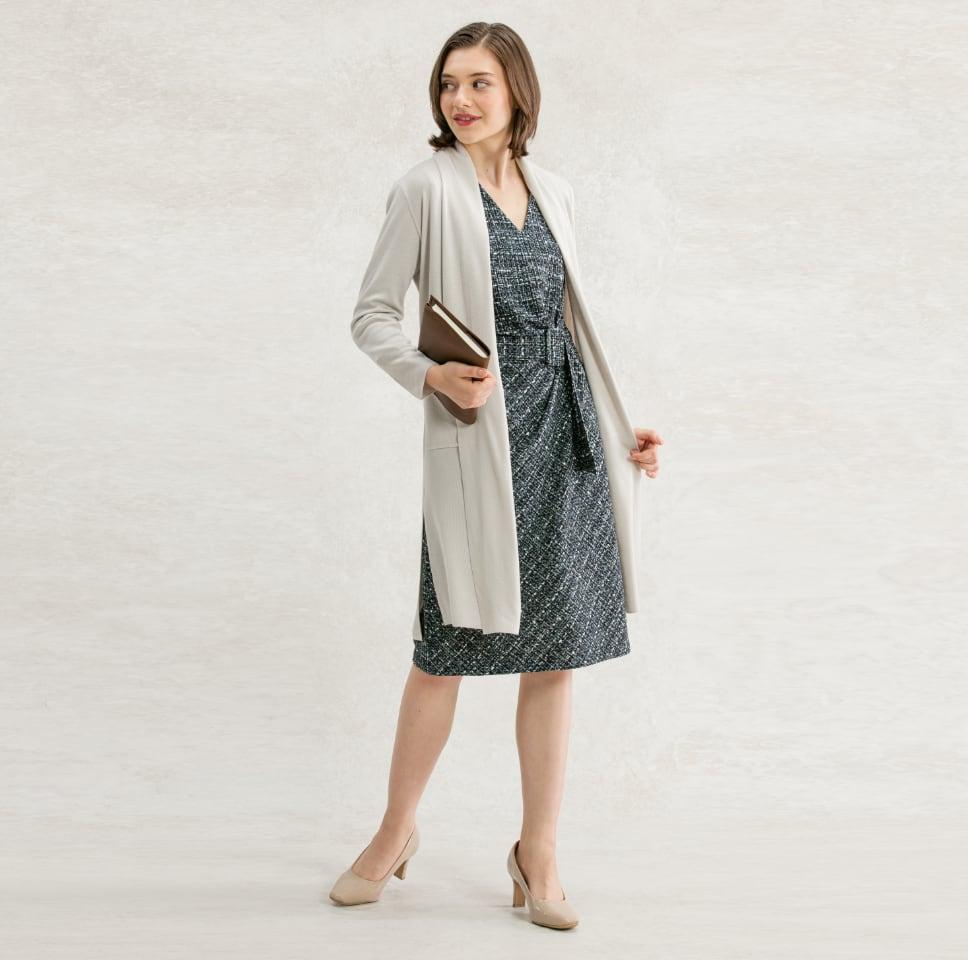 14_Turquoise_Tweed_VNeck_Daily_Dress_Coordinate.jpg