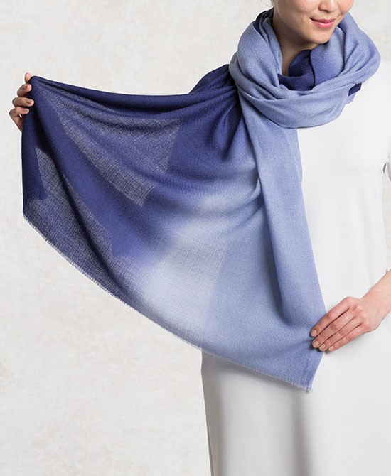 Blue Silk Wool