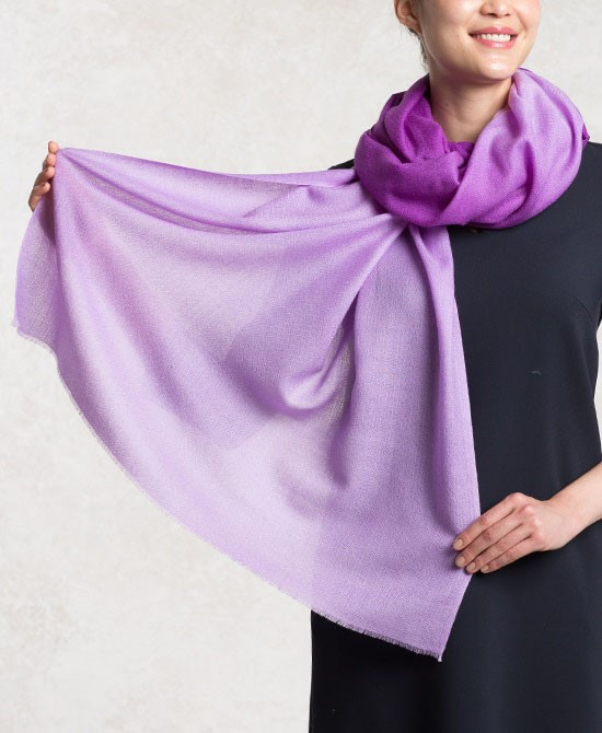 Purple Silk Wool